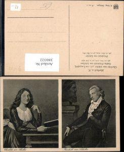 380322,Künstler Ak Charlotte v. Schiller Friedrich Schiller Portrait
