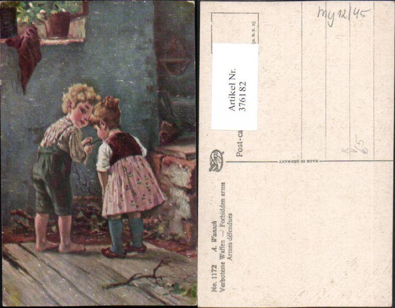 376182,Degi AK 1172 Künstler A. Wunsch Verbotene Waffen Kinder