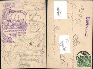 377139,Künstler AK Handgemalt St. Ulrich bei Steyr Vereinsausflug Ruderverein Germanen 1911