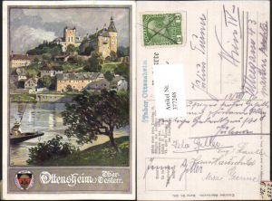 377248,Künstler AK Anton Reckziegel Ottensheim Teilansicht pub Deutscher Schulverein 398
