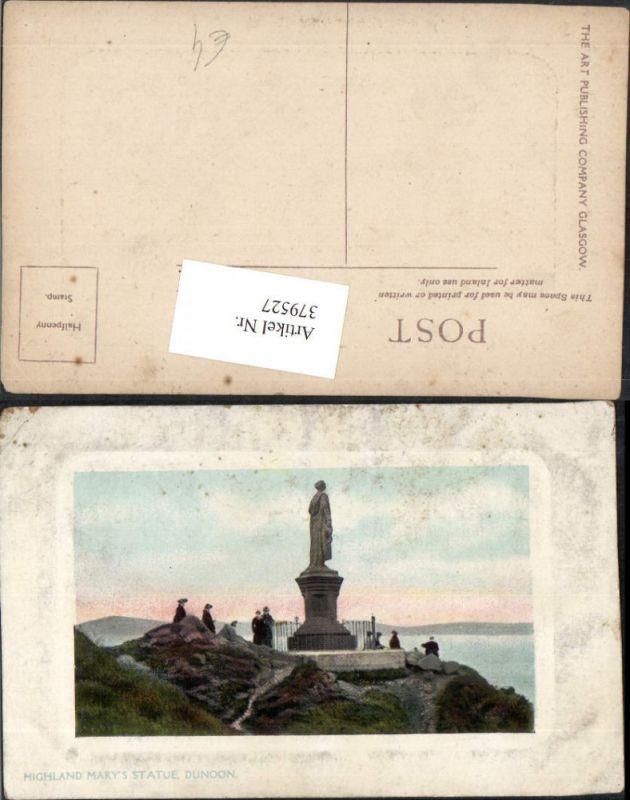 379527,Scotland Dunoon Highland Marys Statue Präge Passepartout