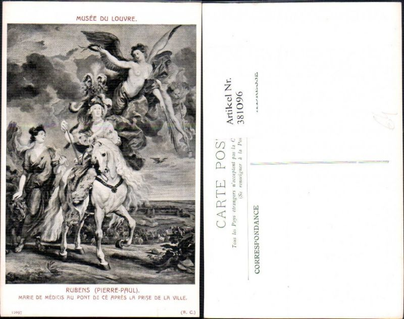 381096,Künstler Ak Pierre-Paul Rubens Marie de Medicis au Pont de ce apres la prise de la ville Engel Erotik
