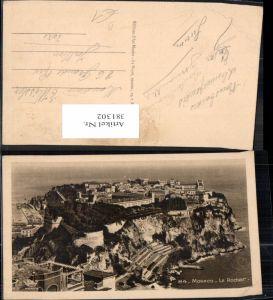 381302,Monaco Monte-Carlo Le Rocher Teilansicht m. Fürstenpalast