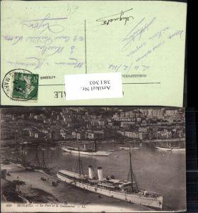 381303,Monaco Monte-Carlo Le Port et la Condamine Hafen Schiffe Dampfer Segelschiffe