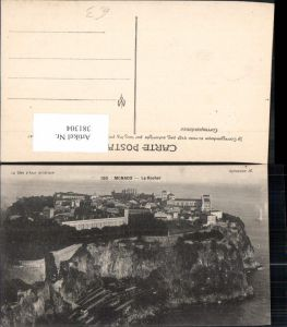 381304,Monaco Monte-Carlo Le Rocher Fürstenpalast