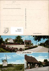 383992,Groß Sisbeck b. Twülpstedt Windmühle Mühle Dorfplatz Gemischtwaren Heber Mehrbildkarte