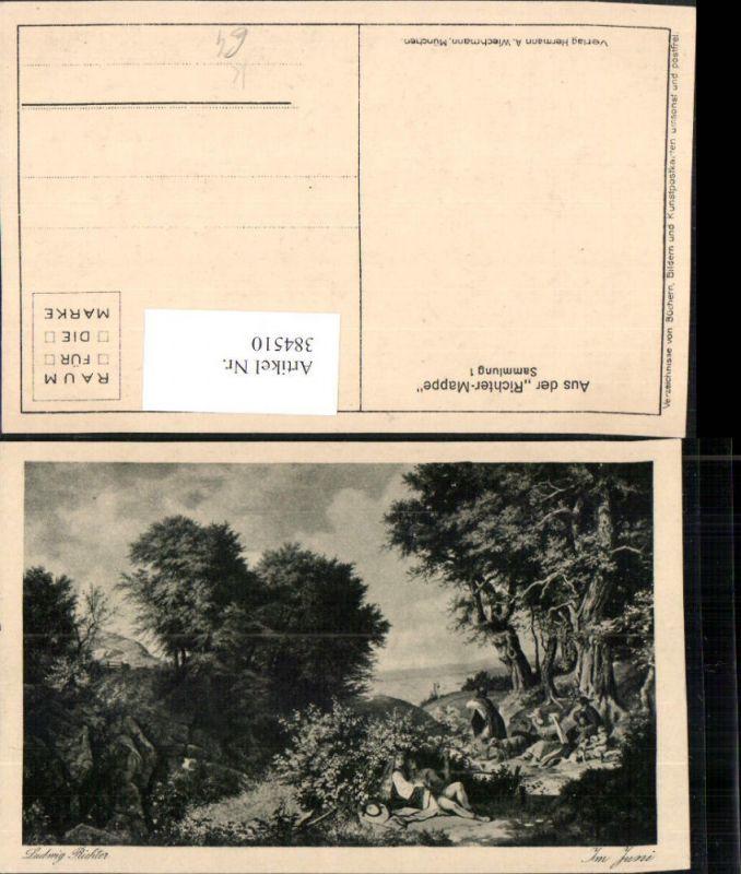 384510.Künstler AK Ludwig Richter Im Juni Landschaft pub A. Wiechmann