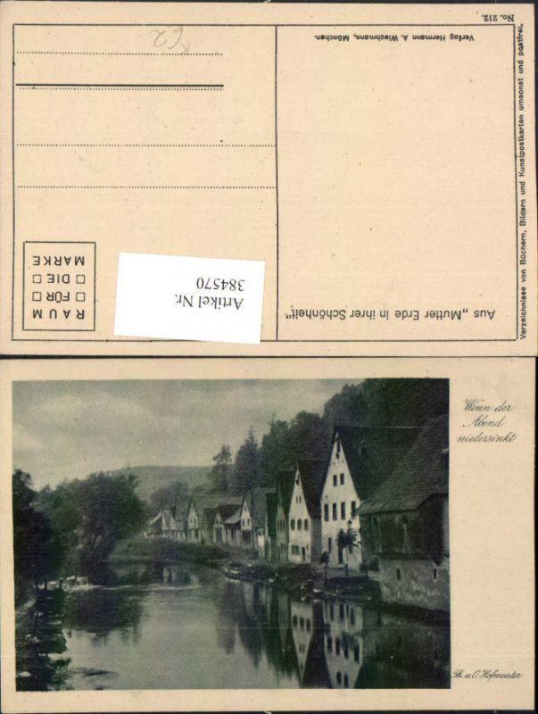 384570.Künstler AK Th. u. O. Hofmeister Wenn der Abend niedersinkt pub A. Wiechmann 212