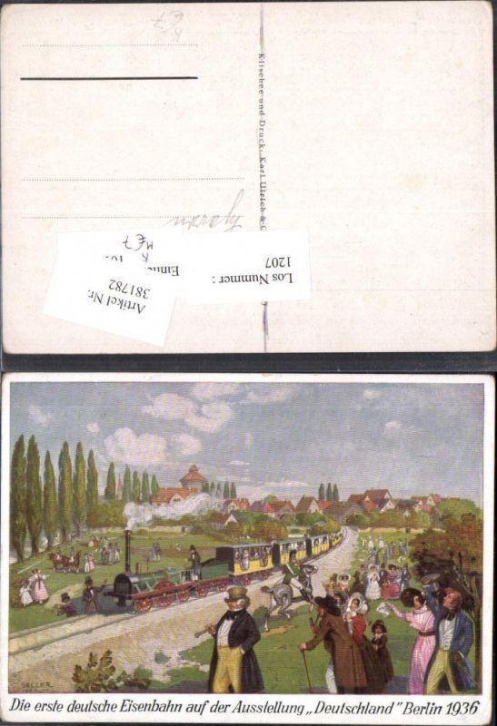 381782,Künstler Ak Selzer Eisenbahn Lokomotiven Ausstellung Deutschland Berlin 1936