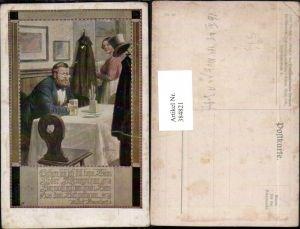 384821,Künstler AK F. Kuderna Mann m. Brille Wein pub Deutschnationaler Verein für Österreich