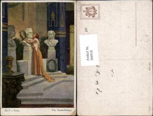 384910,Theo Stroefer 860 Künstler Gd. P. v. Erlang Die Unsterblichen Frau küsst Büste