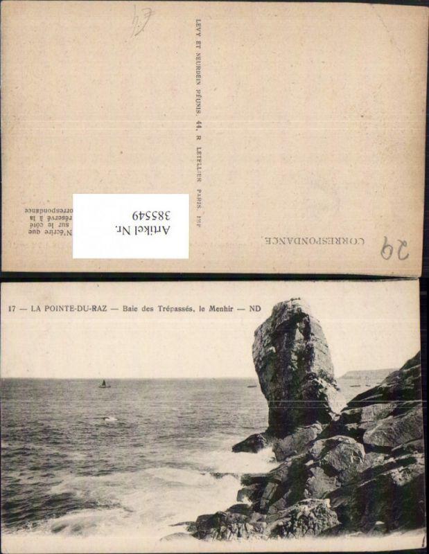 385549,Bretagne Finistere La Pointe-du-Raz Baie des Trepasses le Menhir Küste