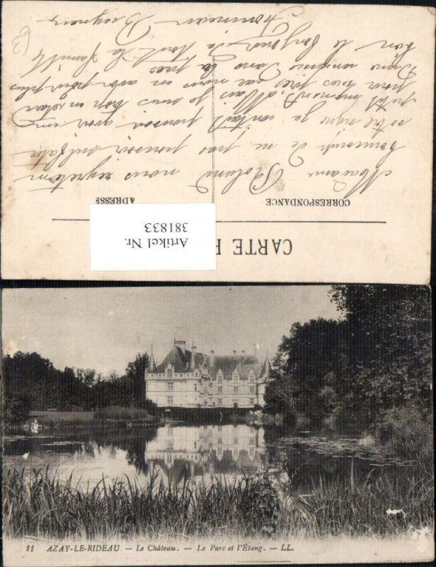 381833,Schloss Azay-Le-Rideau Le Chateau Le Parc et l Etang