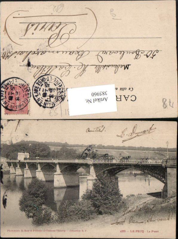 385960,Ile-de-France Yvelines Le Pecq Le Pont Brücke