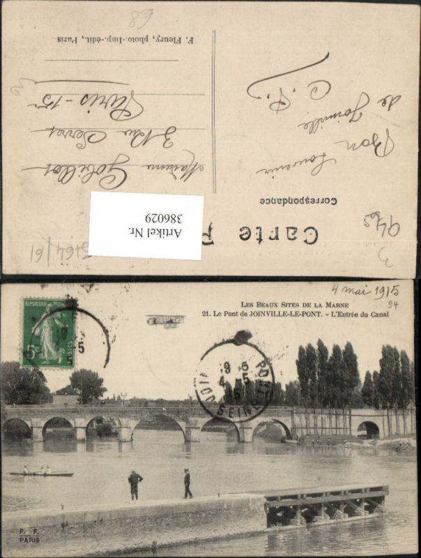 386029,Ile-de-France Val-de-Marne Joinville-le-Pont Le Pont Entree du Canal Brücke