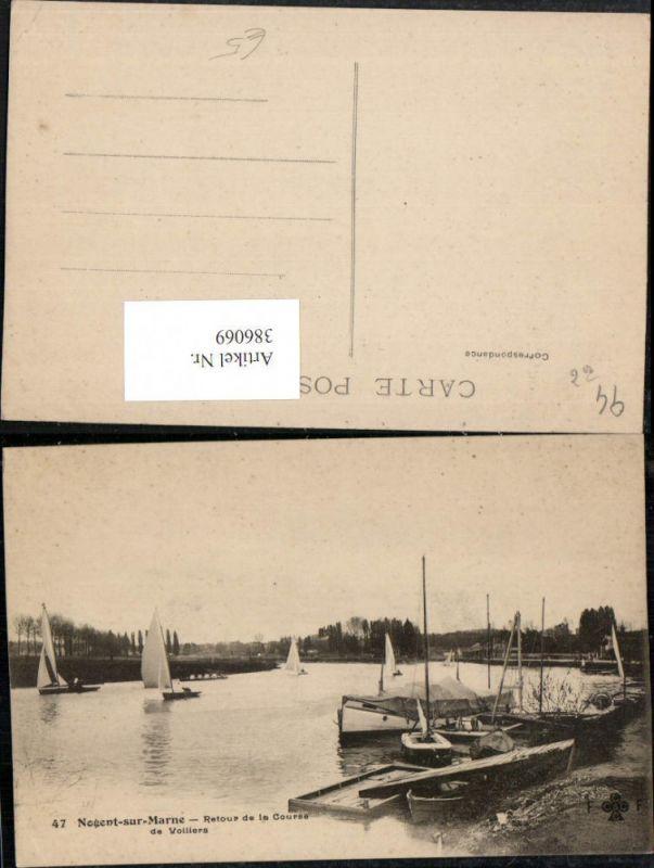 386069,Ile-de-France Val-de-Marne Nogent-sur-Marne Retour de la Course de Voilliers Segelboote