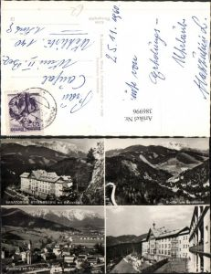386996,Puchberg am Schneeberg Totale Sanatorium Strengberg Mehrbildkarte