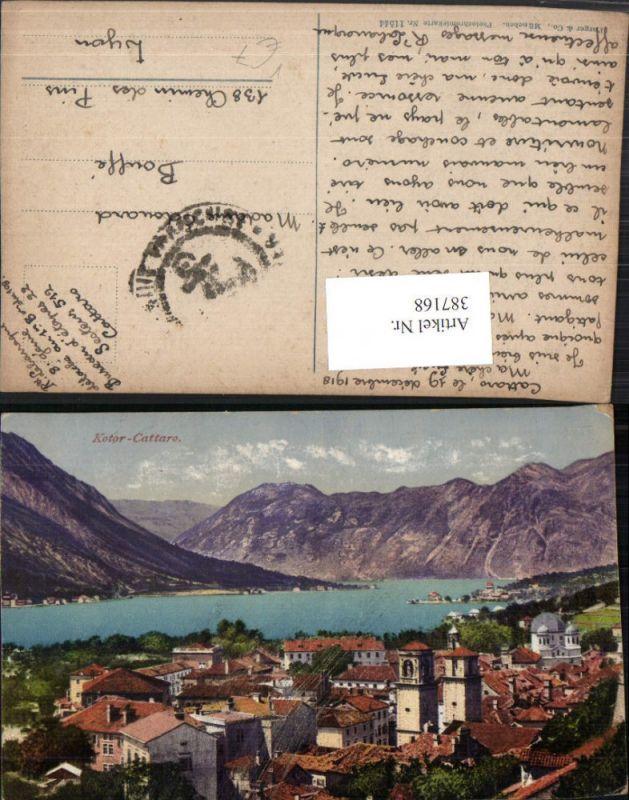 387168,Montenegro Kotor Cattaro Teilansicht Bergkulisse pub Purger & Co 11544