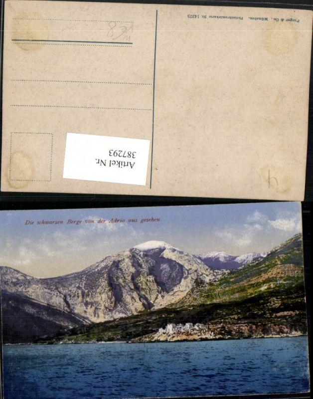 387293,Montenegro Schwarzen Berge von der Adria aus gesehen Bergkulisse pub Purger & Co 14375