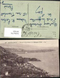 387420,Monaco Monte-Carlo Vue sur le Cap Martin et les Montagnes Italie