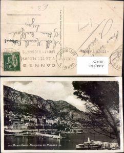 387425,Monaco Monte-Carlo Vue prise de Monaco Totale Hafen