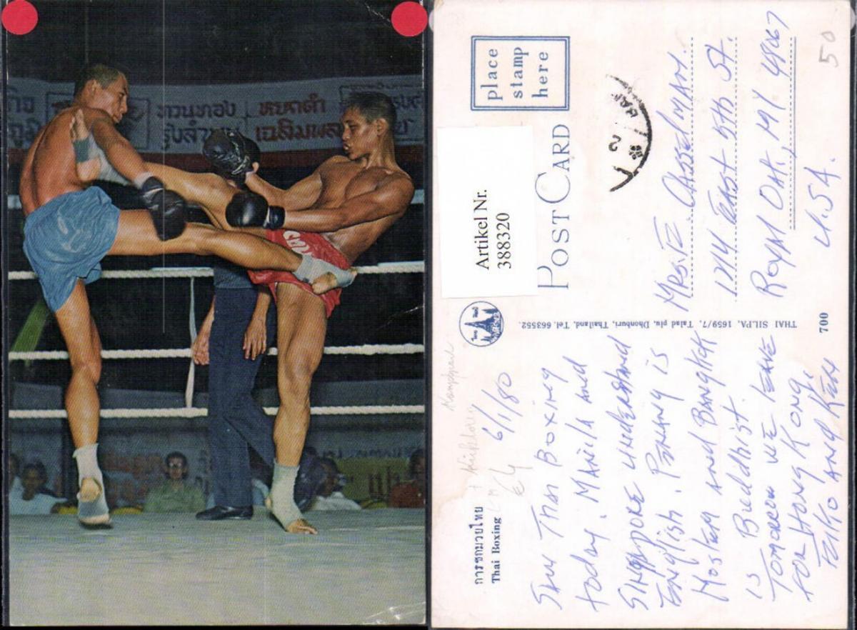 388320,Sport Boxen Thai Boxing Boxer im Ring Kickboxen Kampfsport