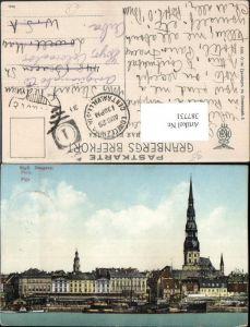387731,Latvia Riga Daugava Teilansicht