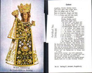 388648,Andachtsbild Heiligenbildchen Altötting Gnadenbild Wahre Abbildung