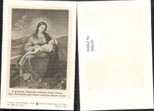 388659,Andachtsbild Heiligenbildchen O gloriosa virginum sublimis inter sidera Heilige