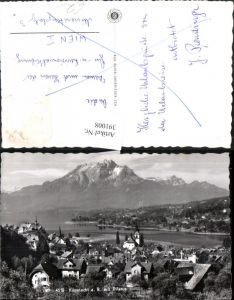 391008,Küssnacht Totale m. Pilatus Bergkulisse Kt Schwyz