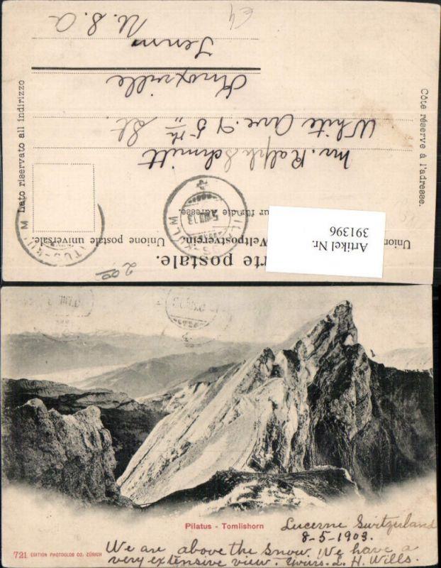 391396,Pilatus Tomlishorn Bergkulisse b. Hergiswil Kt Nidwalden