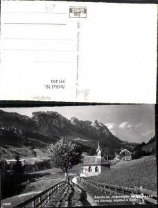 391494,Kapelle im Sonnenhalb b. Appenzell m. Ebenalp Schäfler u. Öhrli Bergkulisse Kt Appenzell