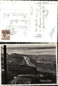 391495,Walzenhausen Rheineck Totale m. Rhein u. Bodensee Kt Appenzell