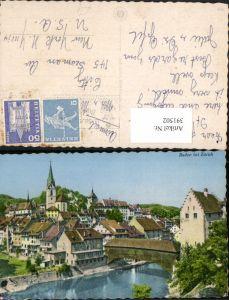391502,Baden b. Zürich Teilansicht Brücke Kt Aargau