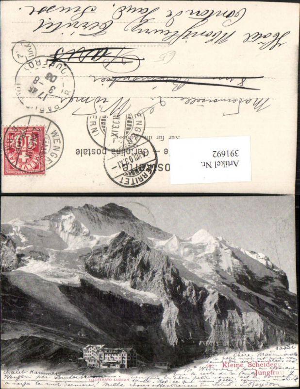 391692,Kleine Scheidegg m. Jungfrau Bergkulisse Kt Bern