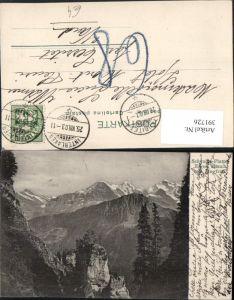 391726,Schynige-Platte Eiger Mönch u. Jungfrau Bergkulisse Kt Bern