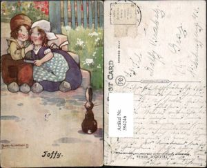 394246,Künstler AK Agnes Richardson Toffy Holländische Kinder Zuckerl Hase