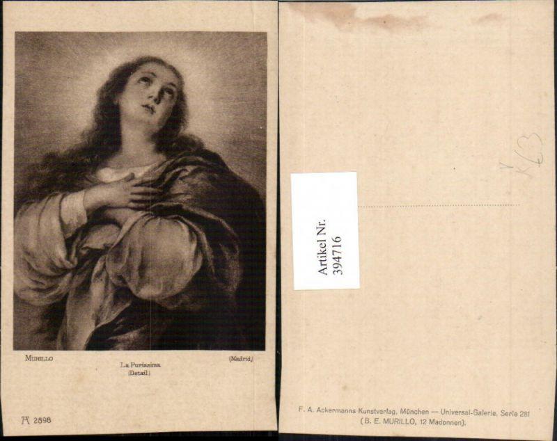 394716,Künstler AK Murillo La Purissima Heilige pub A. Ackermann 2898