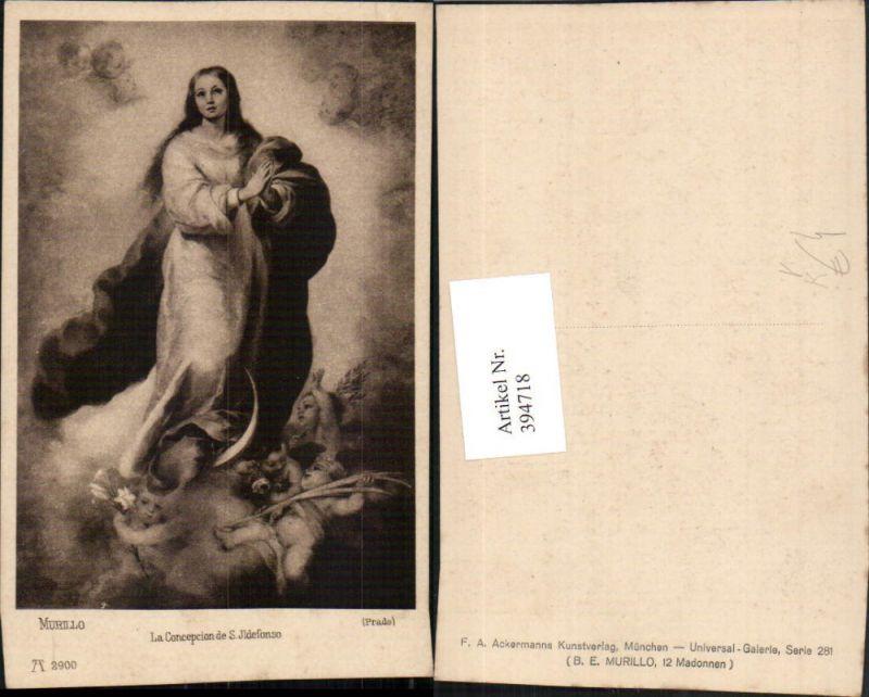 394718,Künstler AK Murillo La Concepcion de S. Ildefonso Beten Engel pub A. Ackermann 2900
