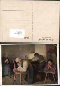 395033,Künstler AK Th. Walch Imst Abendgebet Familie b. Beten Rosenkranz