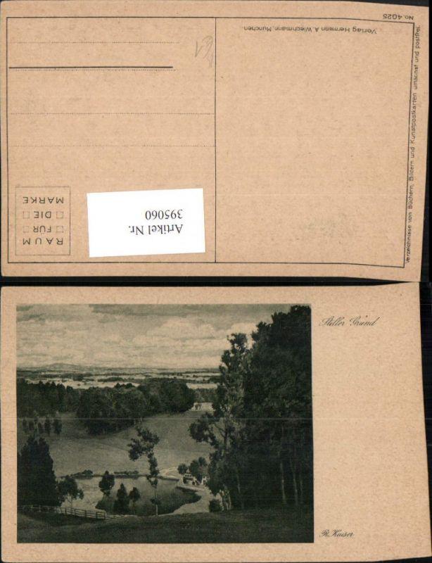 395060,Künstler AK R. Kaiser Stiller Grund Landschaft pub A. Wiechmann 4052