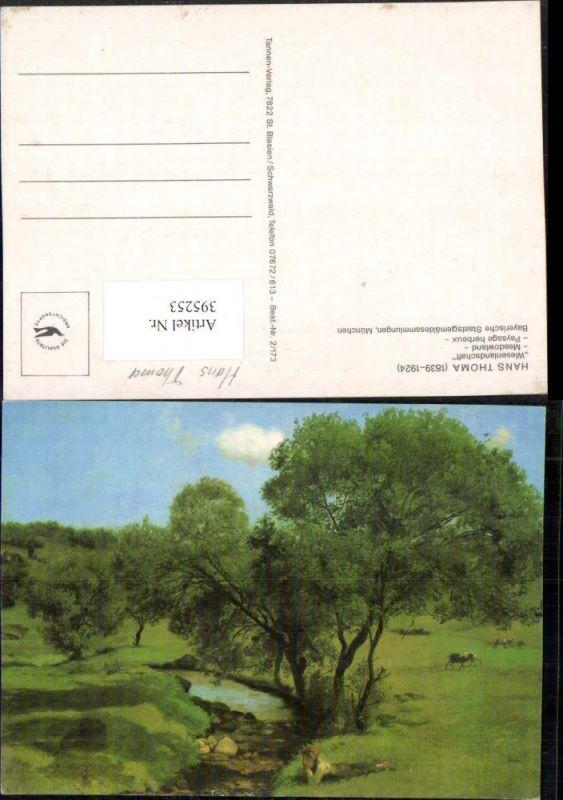 395253,Künstler AK Hans Thoma Wiesenlandschaft Landschaft Bach