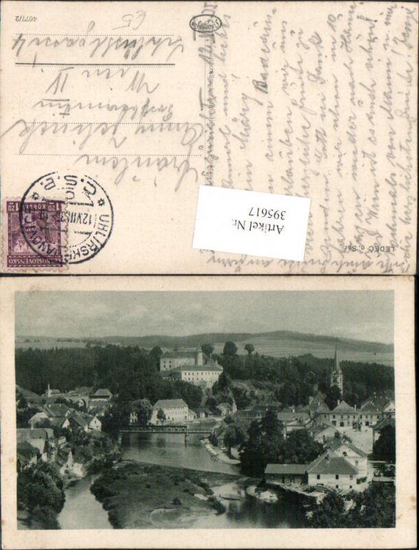 395617,Ledec nad Sazavou Ledetsch Teilansicht Brücke Schloss Burg