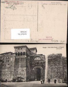 397048,Umbria Perugia Porta Urbica Etrusca o di Augusto Tor Portal