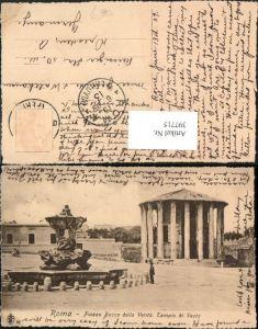 397715,Lazio Roma Rom Piazza Bocca della Verita Tempio di Vesta Tempel Brunnen