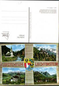 397885,Fürstentum Liechtenstein Schloss Vadzu Kirchlein in Steg Mehrbildkarte