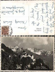 397886,Fürstentum Liechtenstein Schloss Vaduz Bergkulisse
