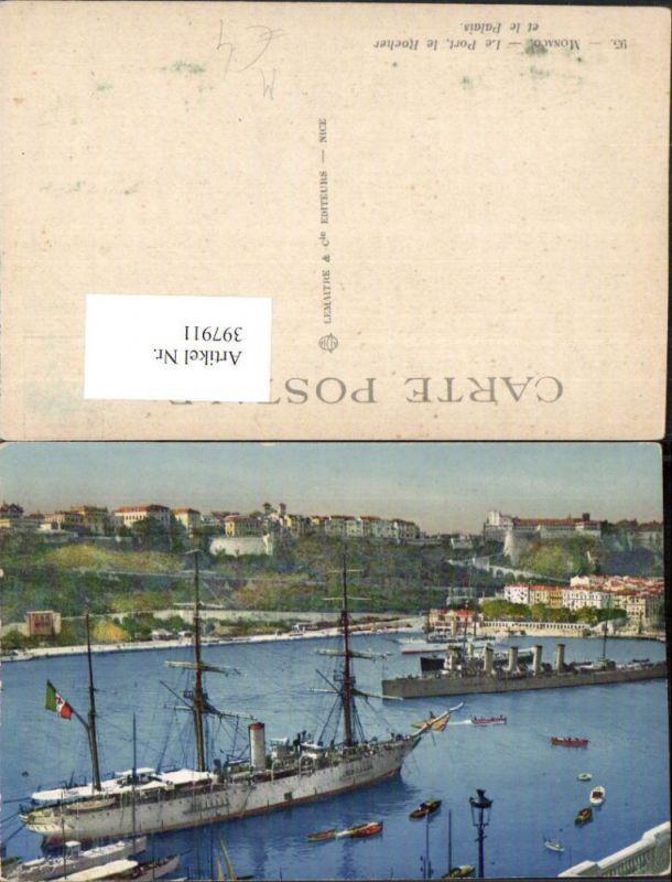 397911,Monaco Le Port le Rocher et le Palais Hafen Dampfer Schiffe