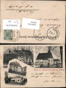 399114,Gruß aus Michaelnbach Kirche Pfarrhaus Grub Mehrbildkarte