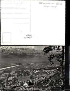 401120,Fürstentum Liechtenstein Vaduz u. Schloss Totale geg. Rhein u. Schweizerberge Bergkulisse